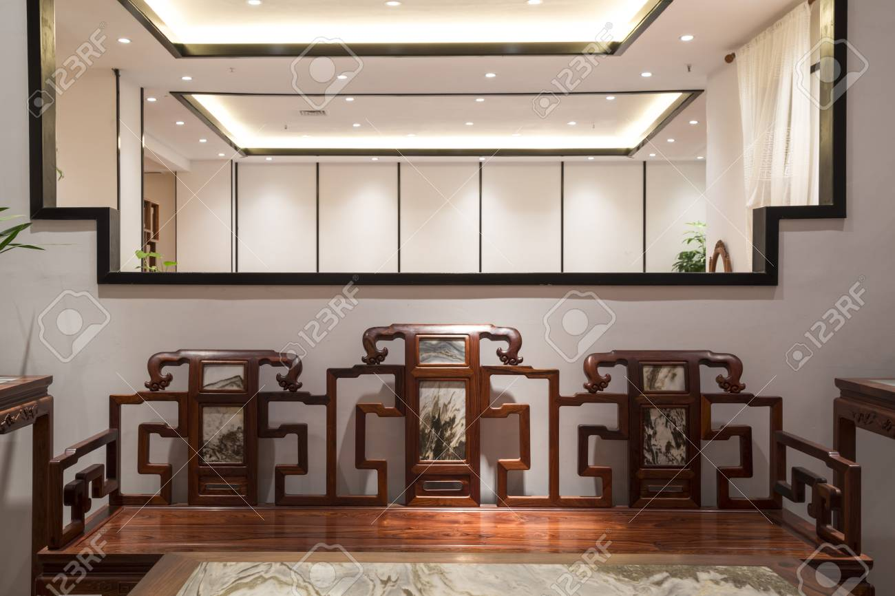 Modern Chinese Red Wood Furniture Stock Photo, Picture And Royalty ...