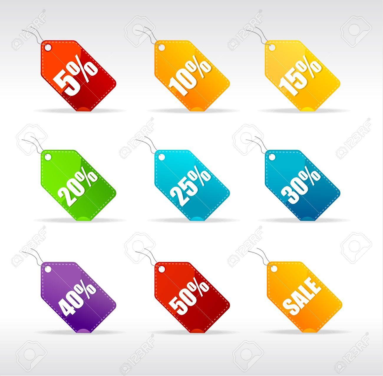 Vector sale labels set rainbow Stock Vector - 17290303