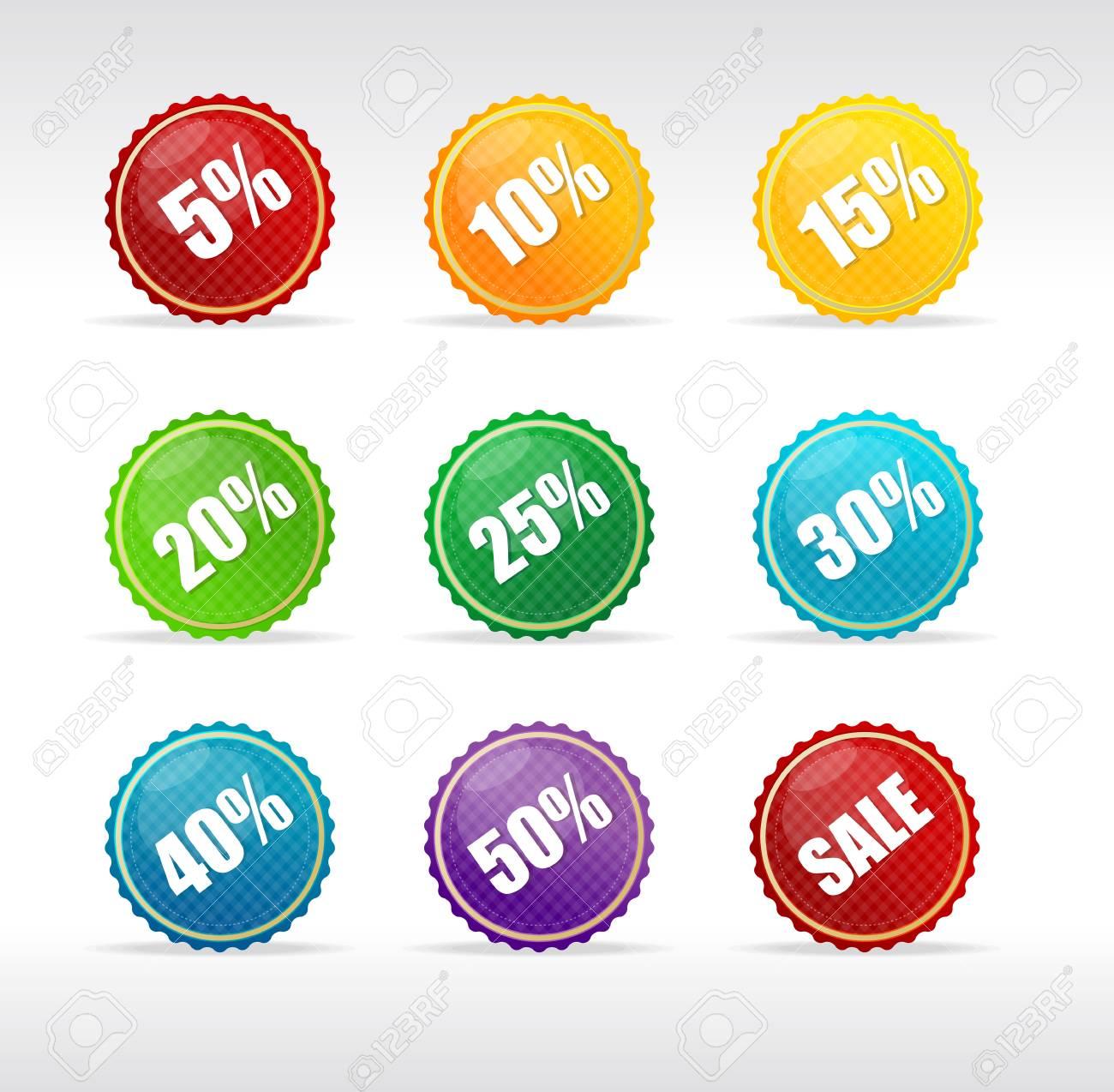 Vector sale labels set rainbow Stock Vector - 17290312