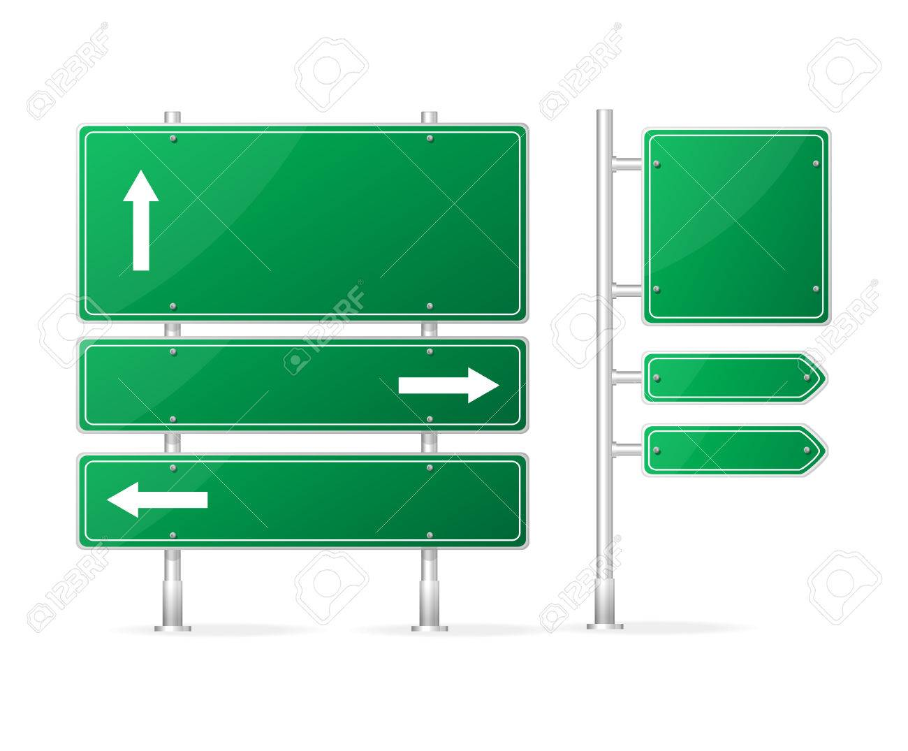 Vector Blank Traffic Sign isolated on white Stock Vector - 23207469
