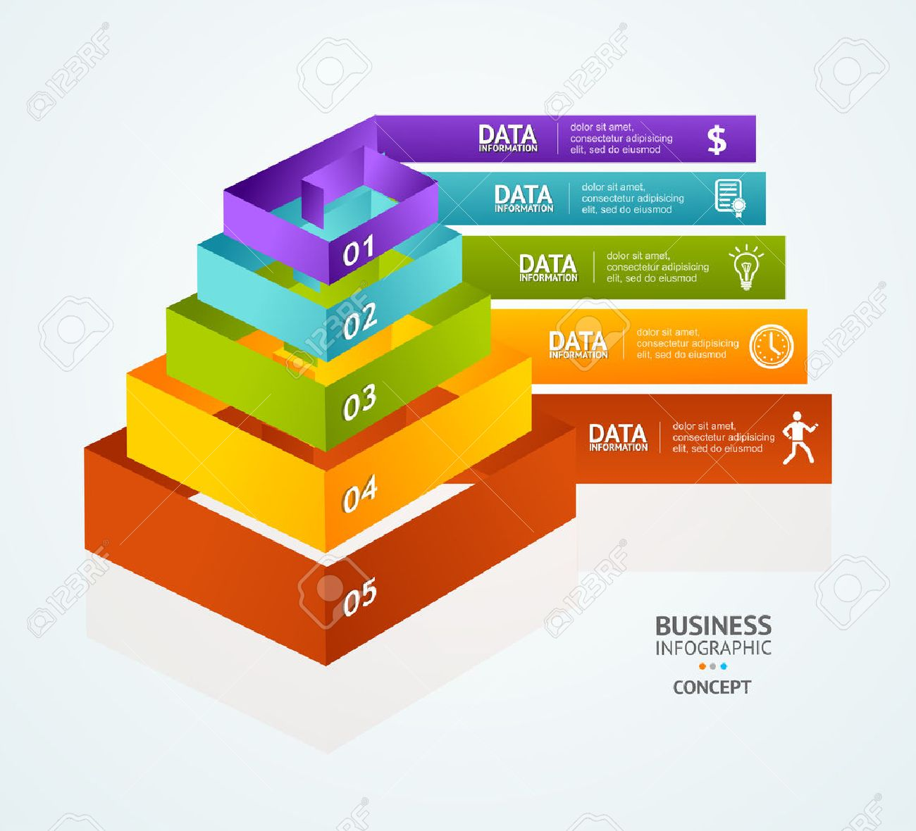 Pyramid Chart For Infographics Design Or Web Template Royalty Free ...