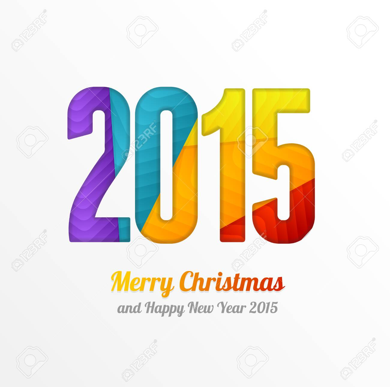 Vector happy new year 2015 colorful greeting card in origami style vector happy new year 2015 colorful greeting card in origami style vector illustration for your kristyandbryce Images