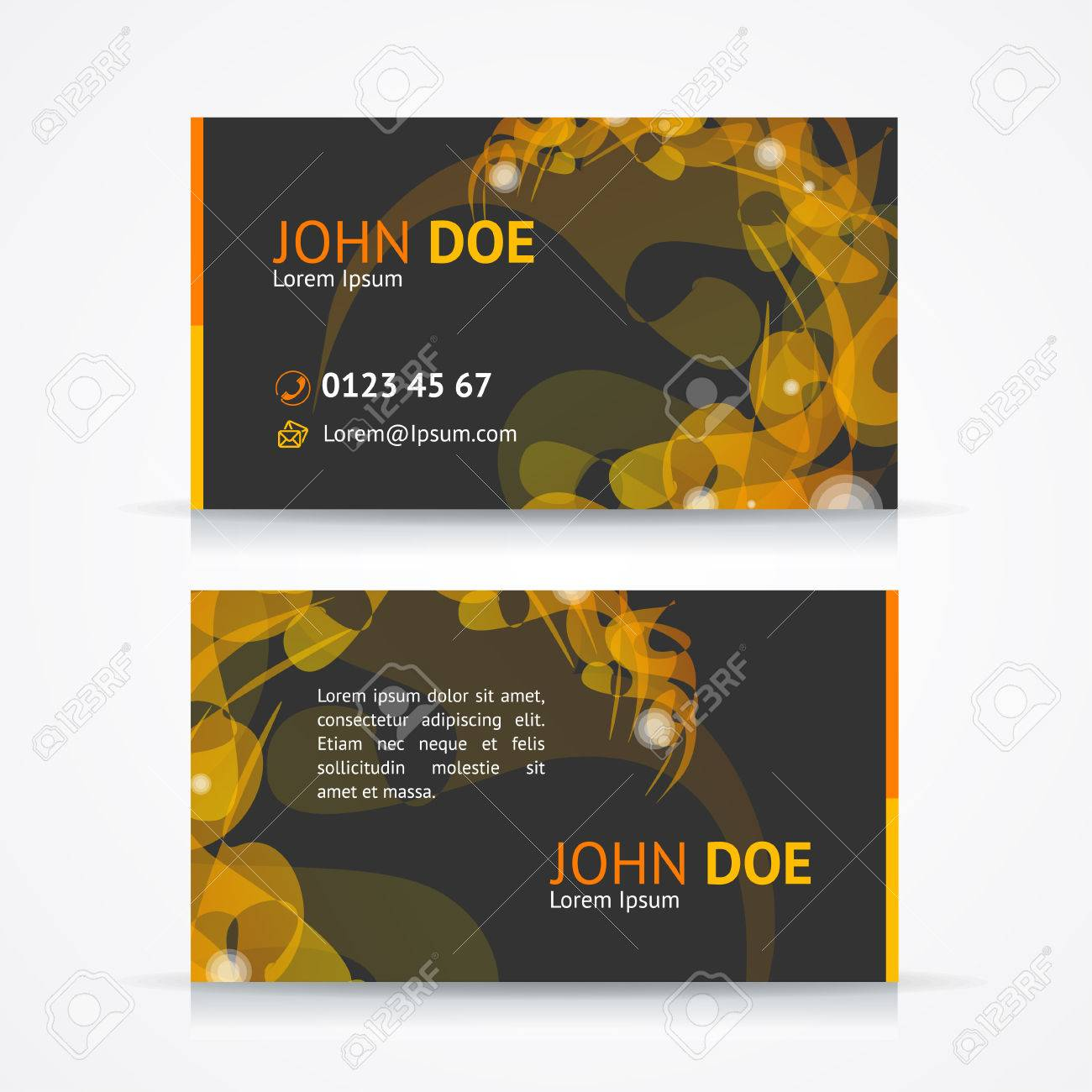 Vector Illustration Business Card Template With Abstract Geometric ...