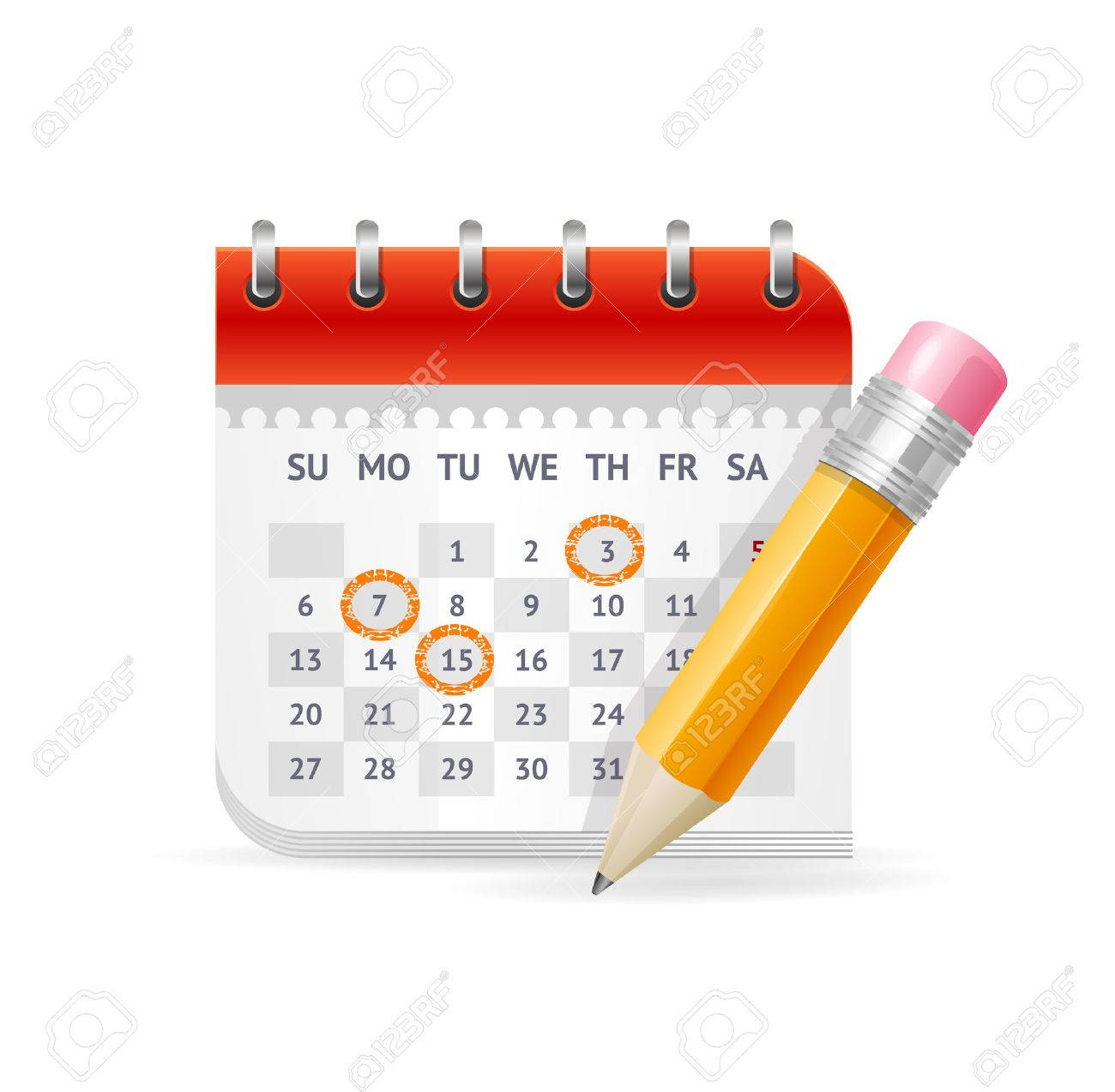 Calendar Business Concept. The Appointment of Important Meetings. Vector illustration - 44432115