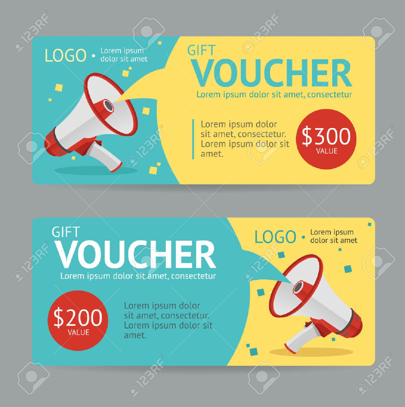 Gift Voucher Template The Announcement Of The Winning Vector – Gift Voucher Free Template