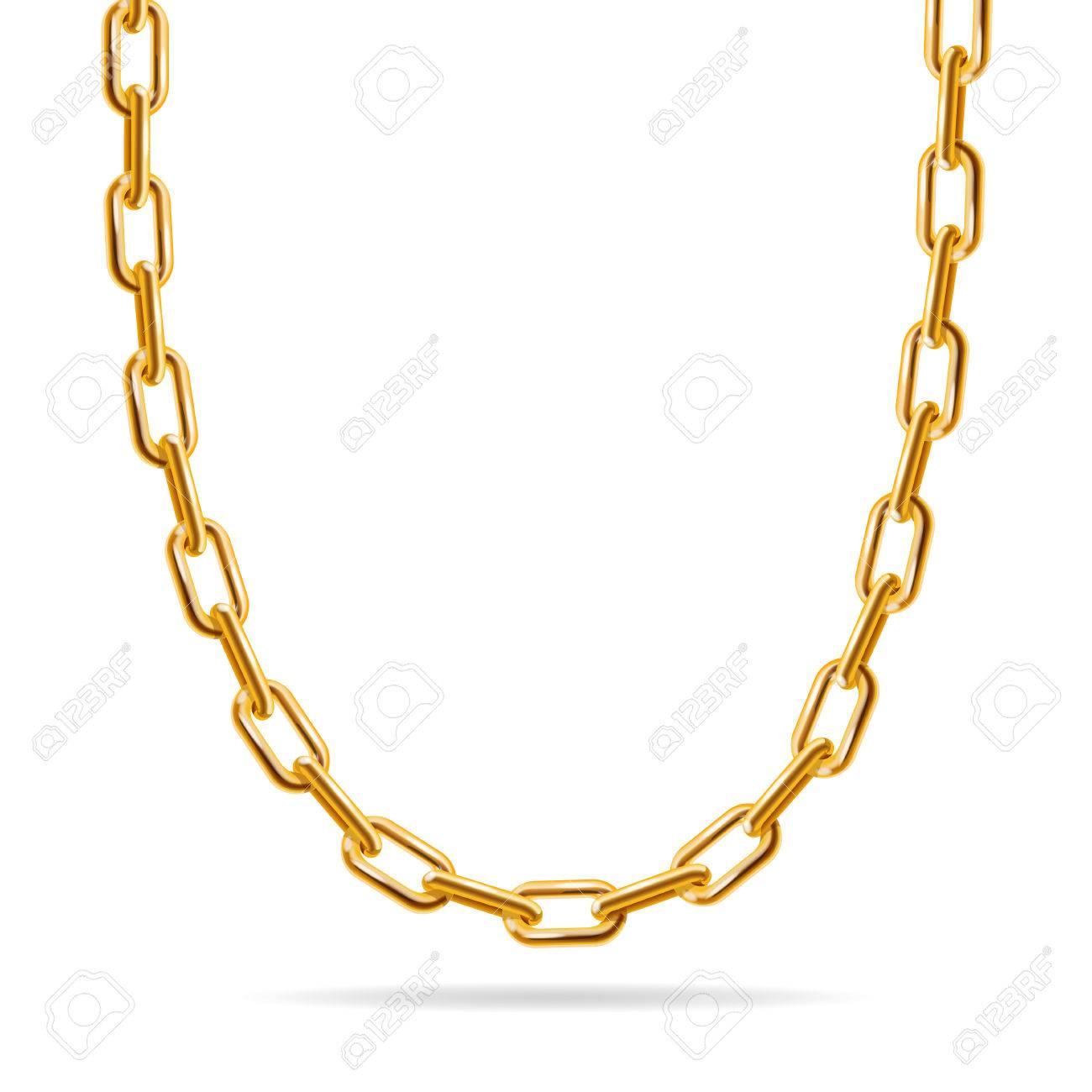 Gold Chain. Fashion Design for Jewelry. Vector illustration - 50438584