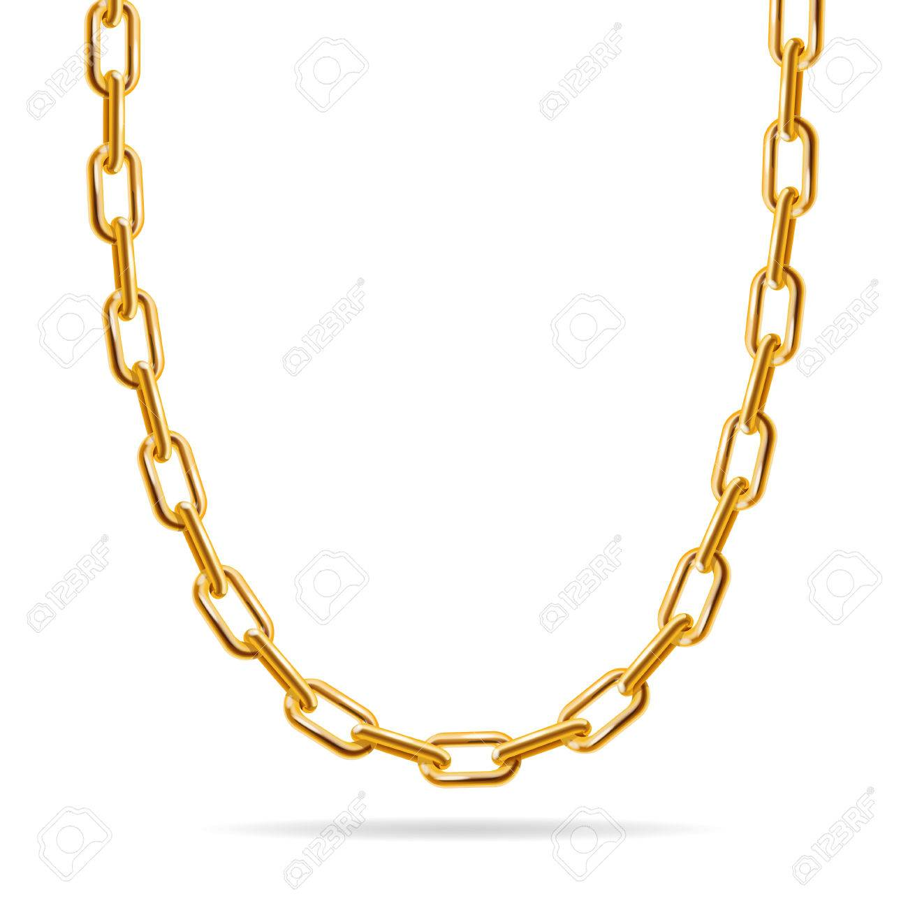 Gold Chain Fashion Design For Jewelry Vector Illustration Royalty Free Cliparts Vectors And Stock Illustration Image 50438584