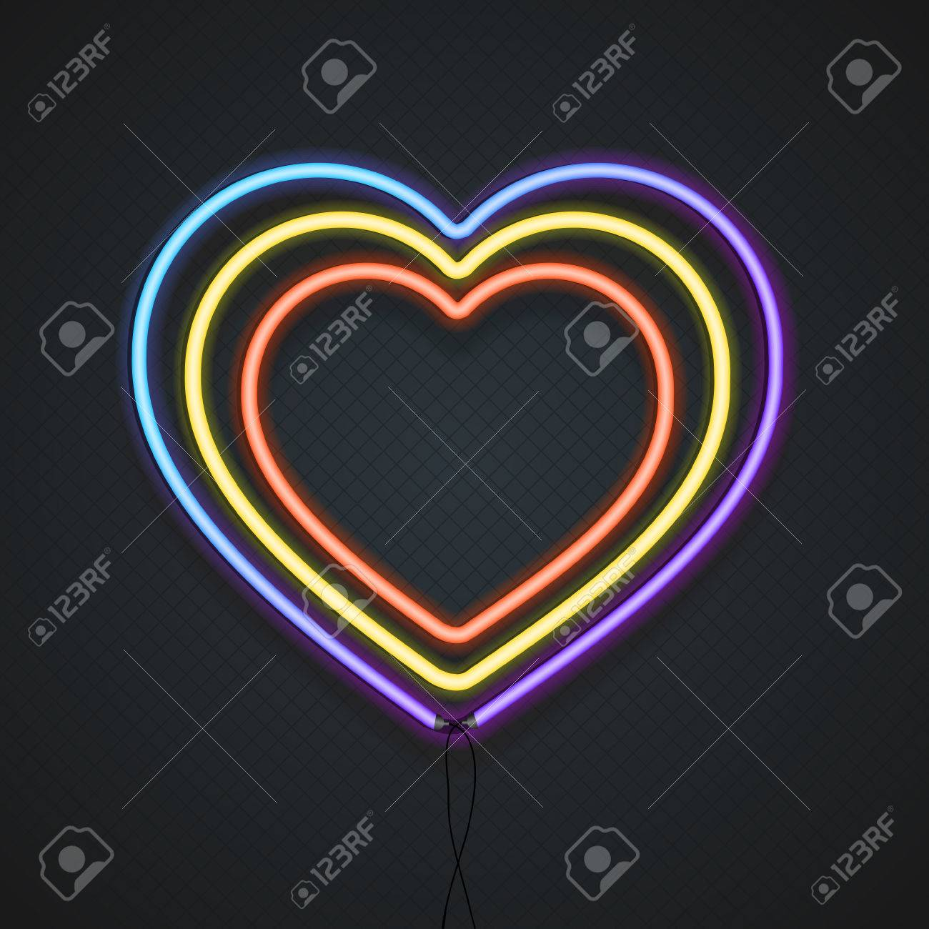 Neon heart a symbol of love vector illustration royalty free a symbol of love vector illustration stock vector 50793000 biocorpaavc Images
