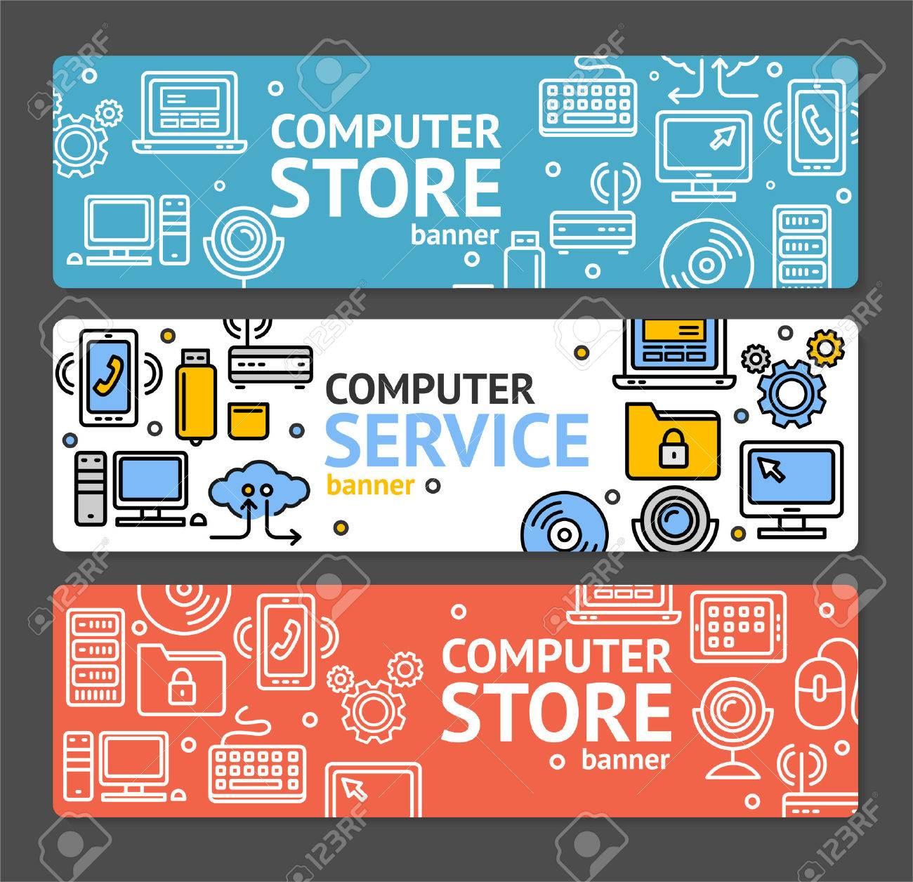 computer shop background