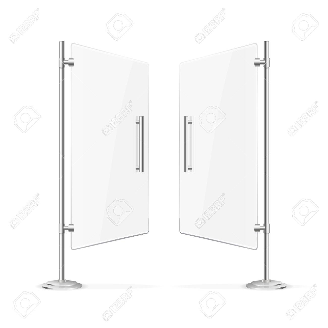 Transparent glass door open with steel handles vector illustration transparent glass door open with steel handles vector illustration stock vector 62205839 planetlyrics Image collections