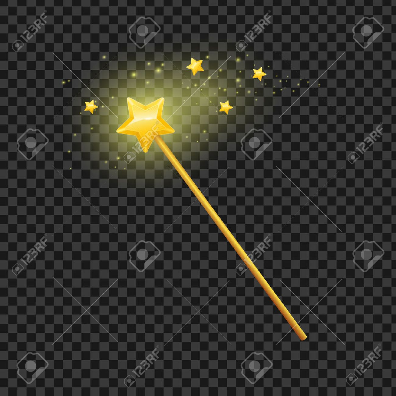 Golden magic wand with star on transparent background symbol golden magic wand with star on transparent background symbol of magic imagination and witchcraft biocorpaavc Choice Image