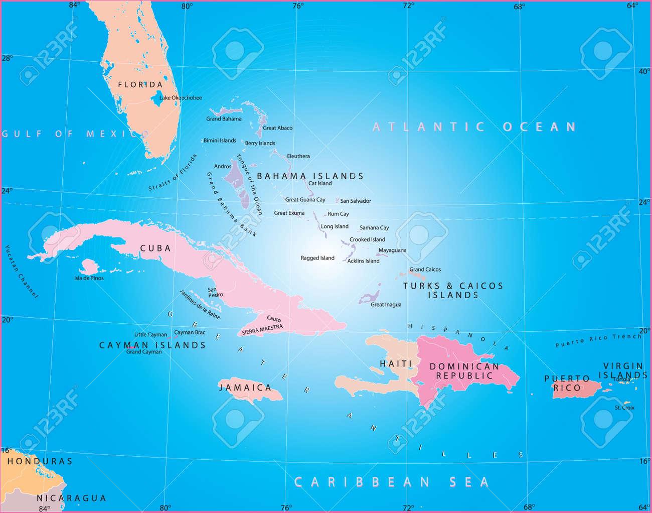 Caribbean sea. Stock Vector - 3062492