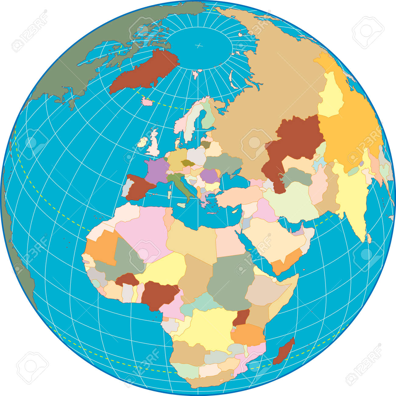 Europa globe Separate and use any country as you wish. Stock Vector - 3150268