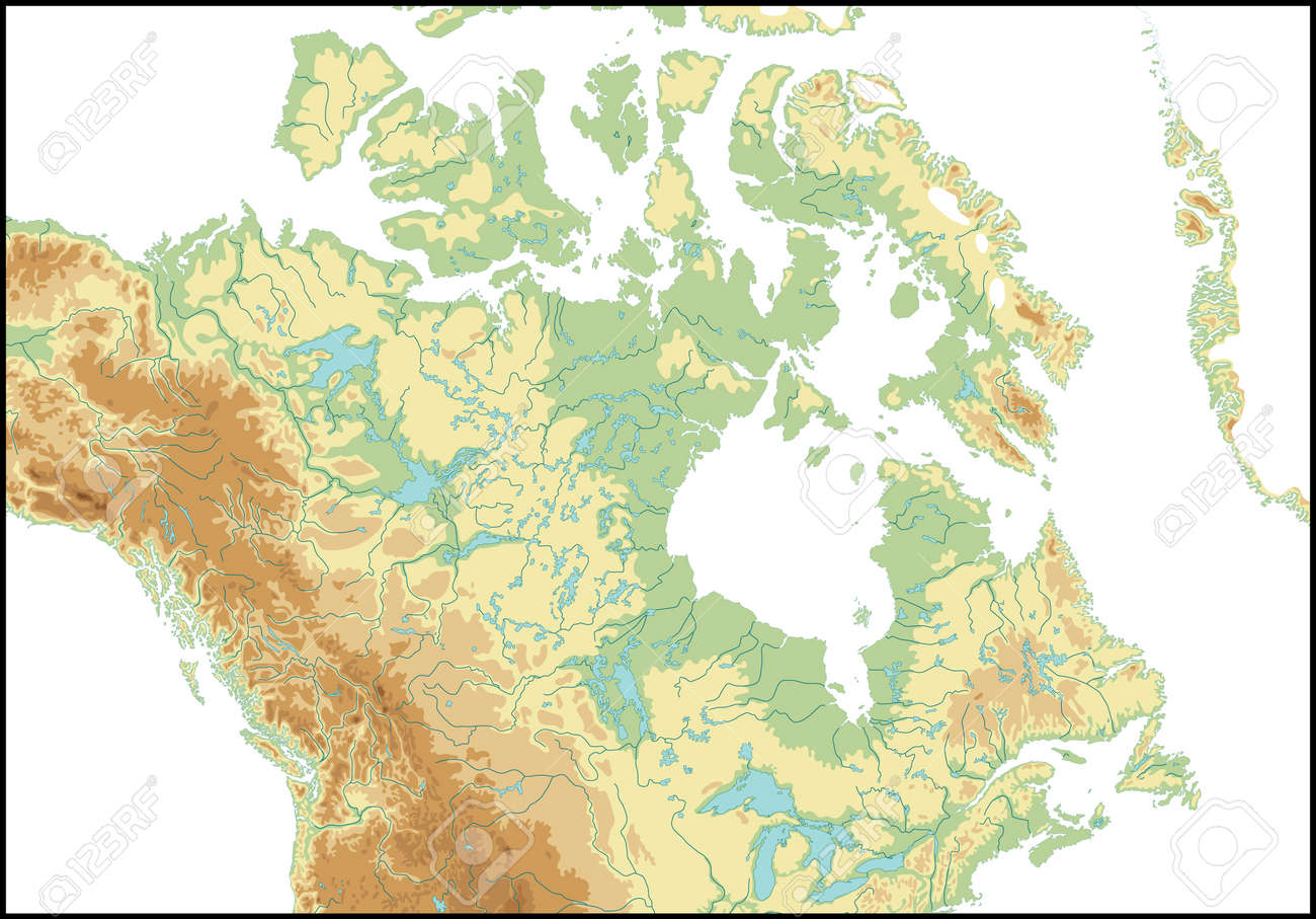 Relief Of Canada Royalty Free Cliparts Vectors And Stock - Relief map of canada