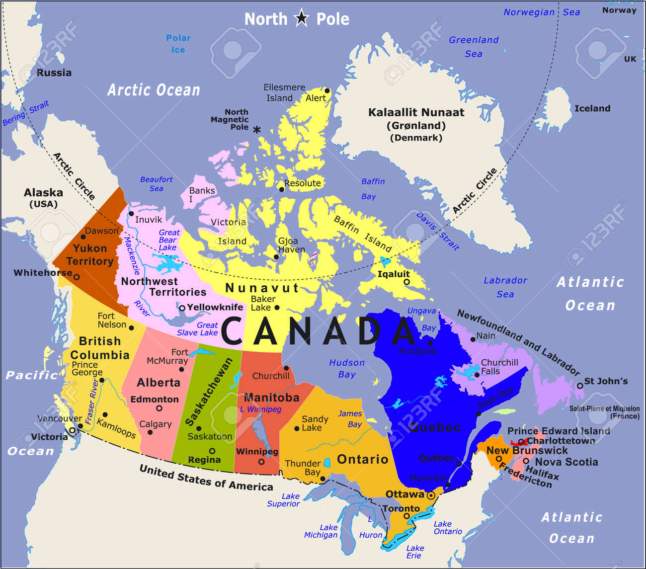 Usa Canada Mexico Map What Swot Tools Diagram - Blank us canada map