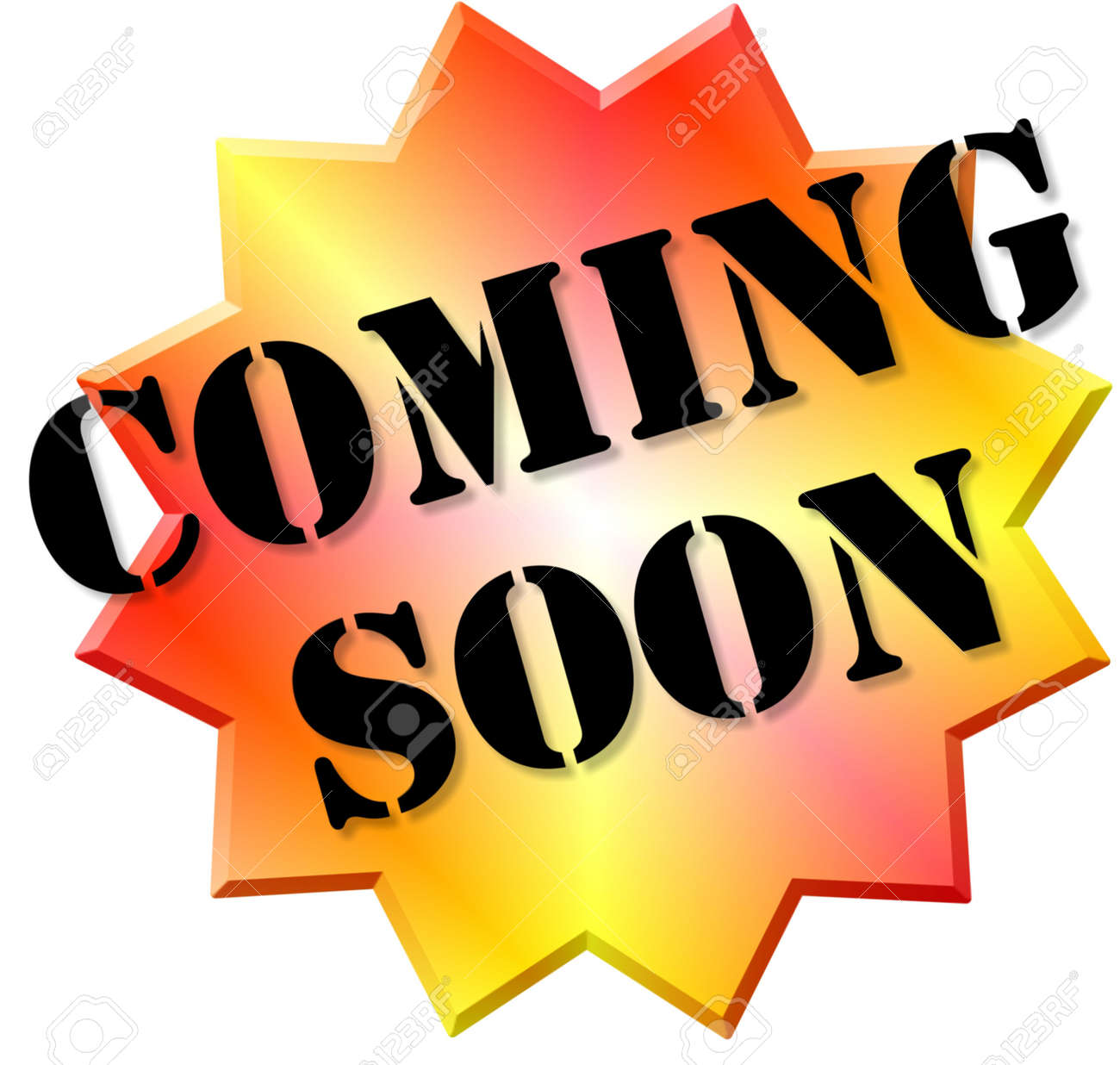 Coming Soon sticker. Stock Photo - 5586108