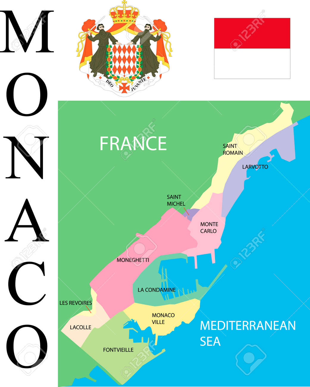 Monaco Map Royalty Free Cliparts Vectors And Stock Illustration