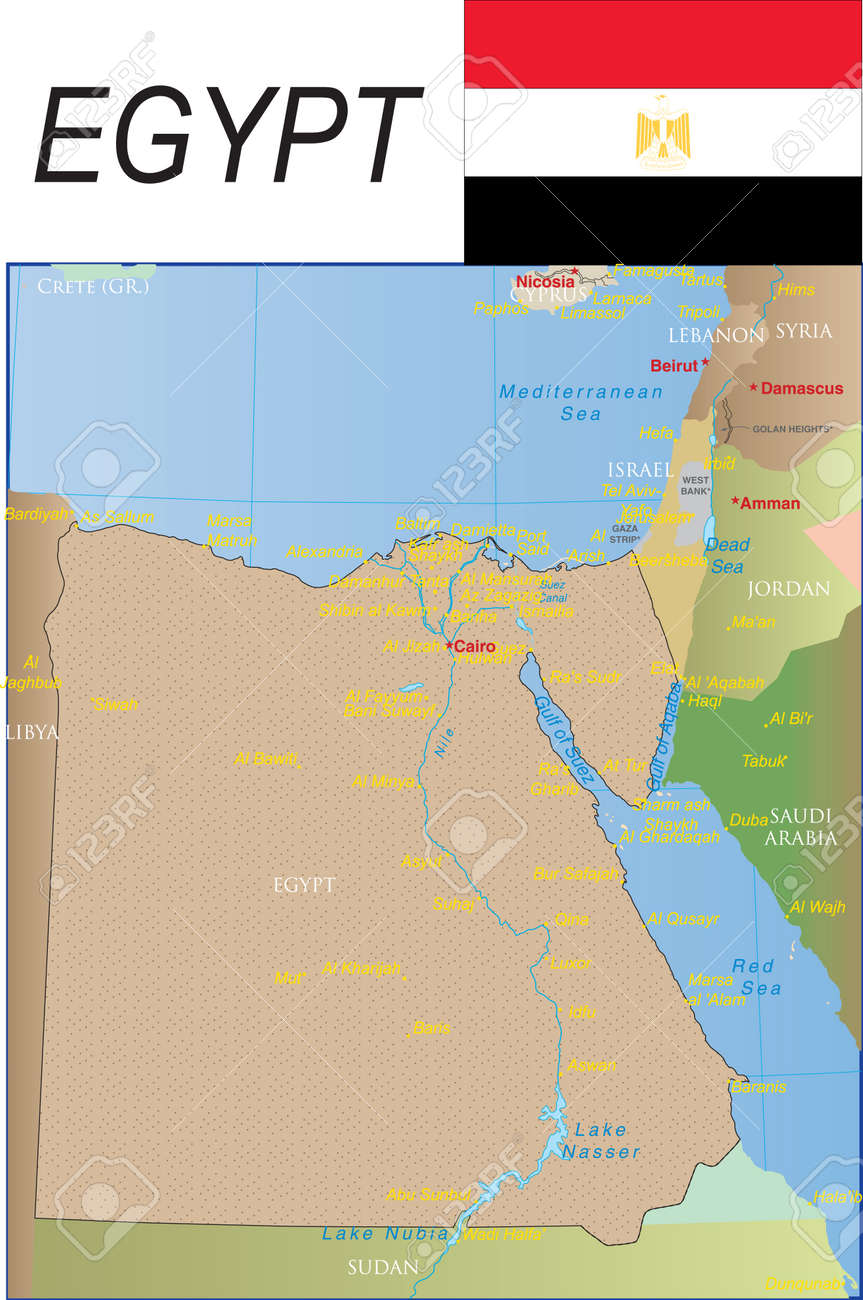 Egypt Map Royalty Free Cliparts Vectors And Stock Illustration - Map of egypt israel