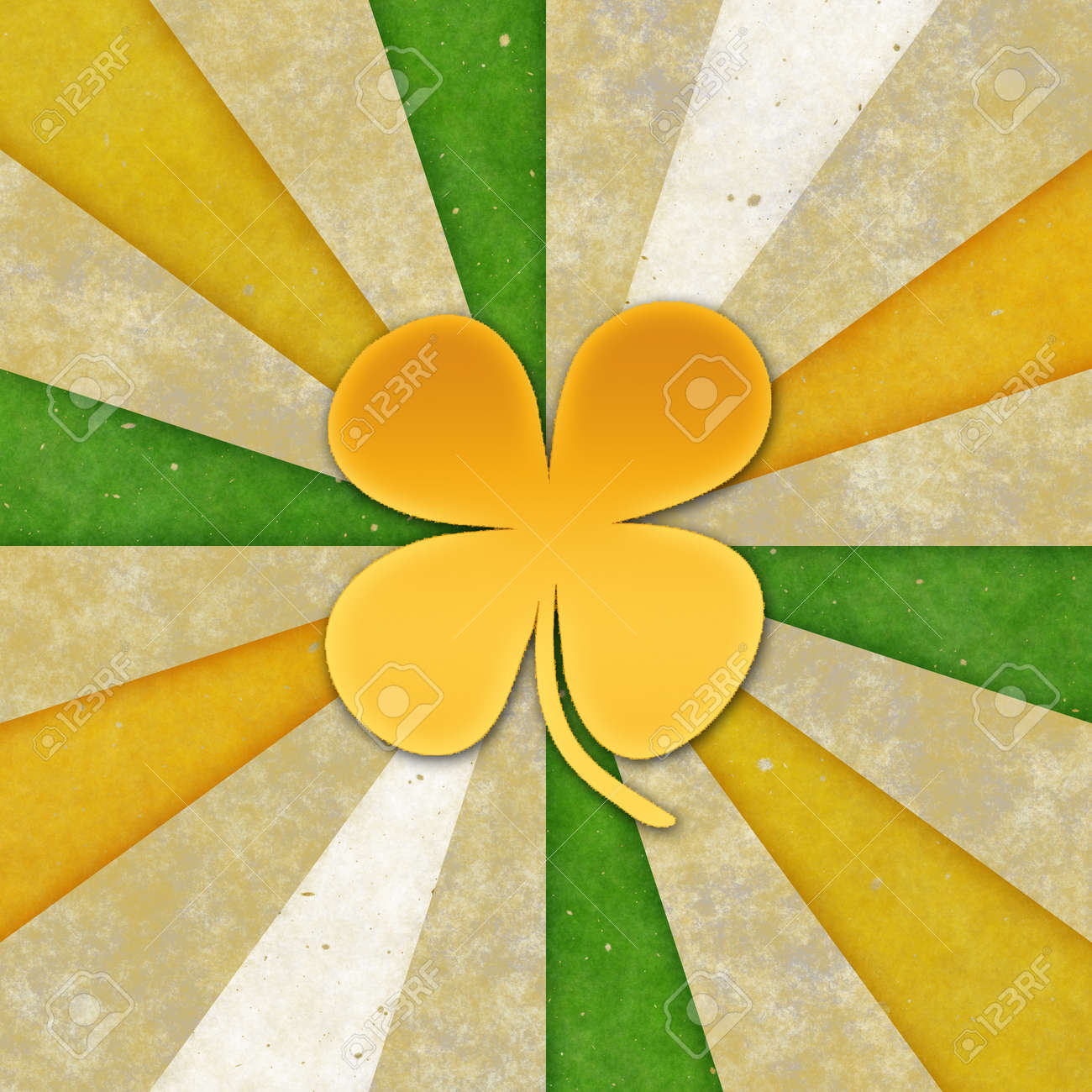 Vintage background for St patrick day. (4 leaves.) Stock Photo - 17570098