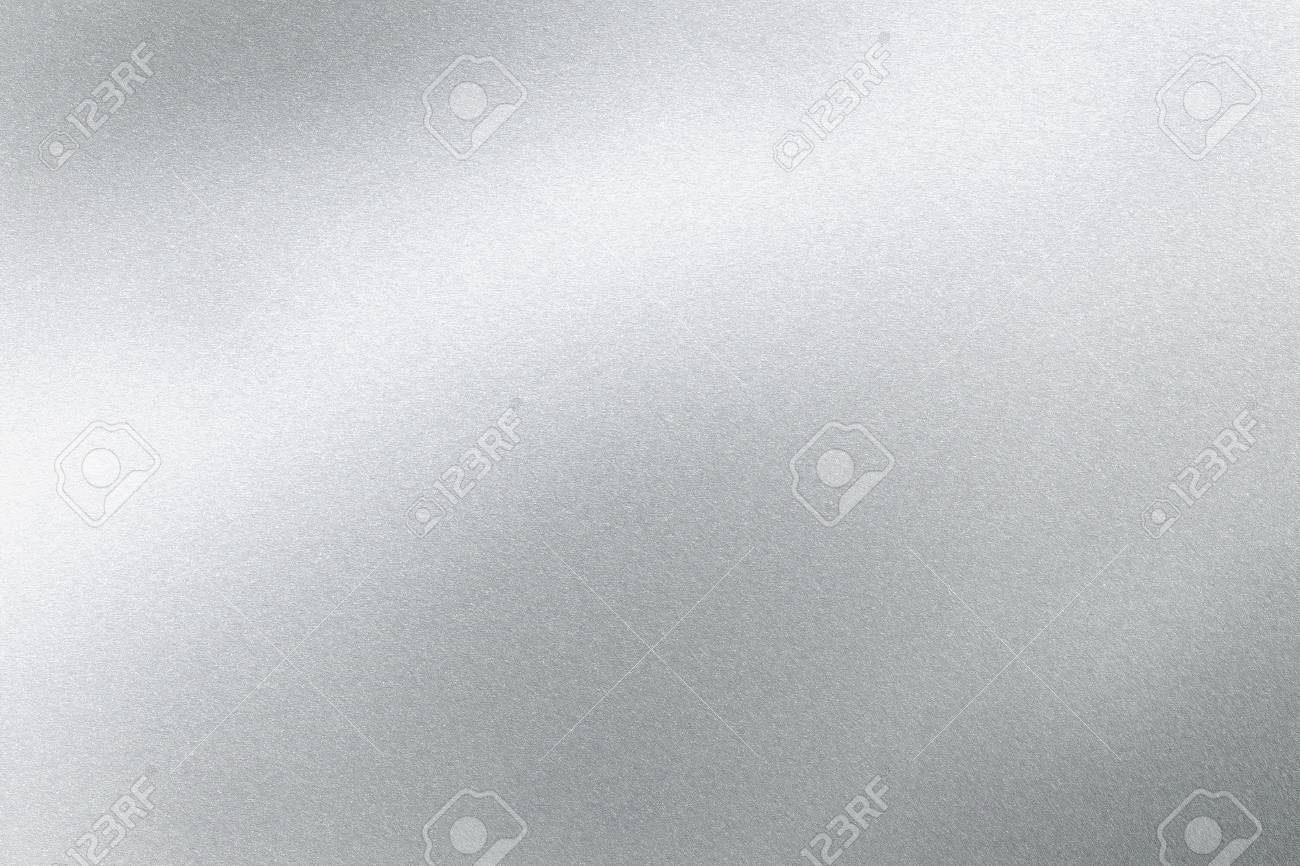 Abstract texture background, light shining on silver stainless sheet - 122265165