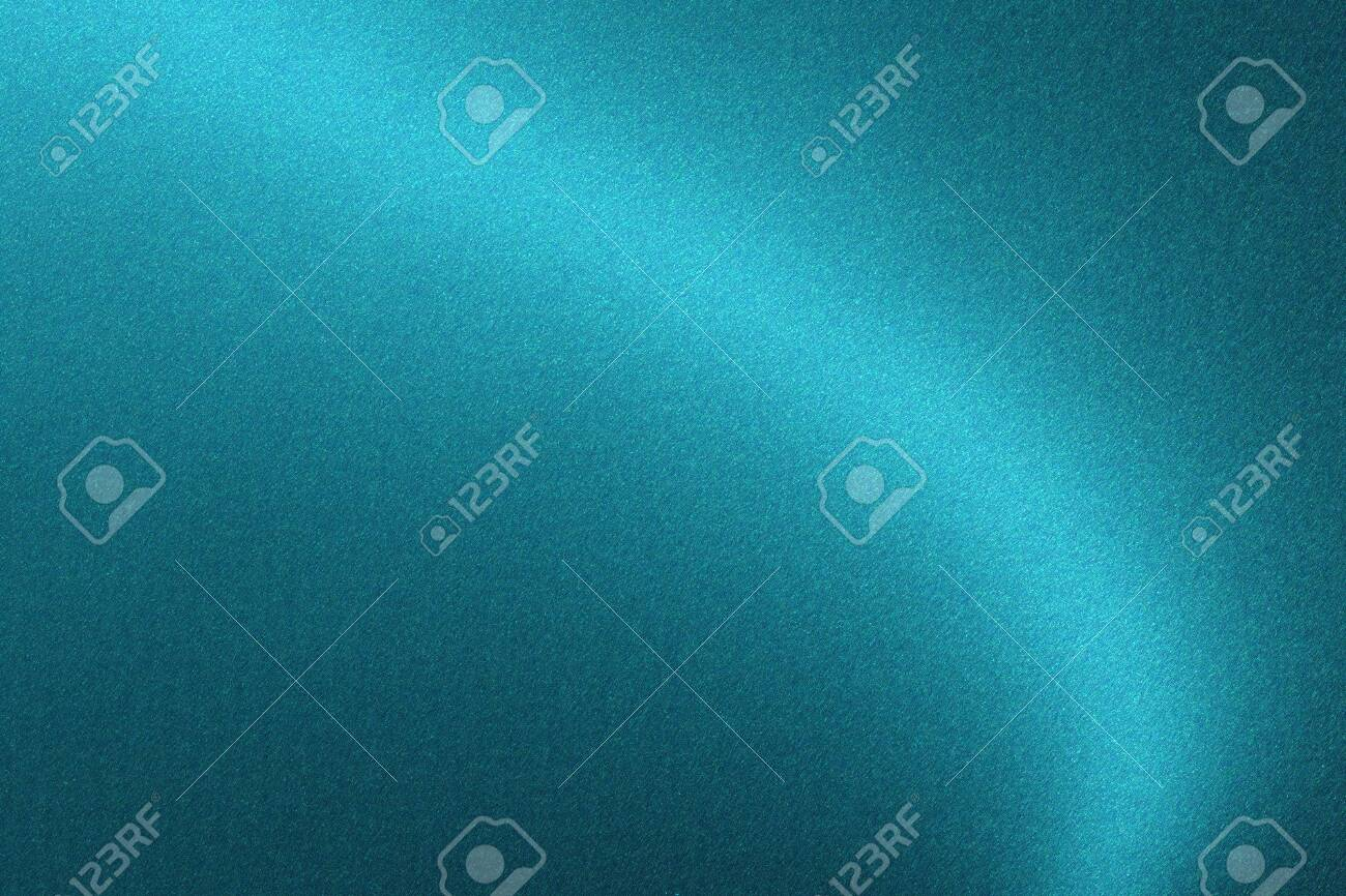Glowing blue wave metal wall, abstract texture background - 122265571