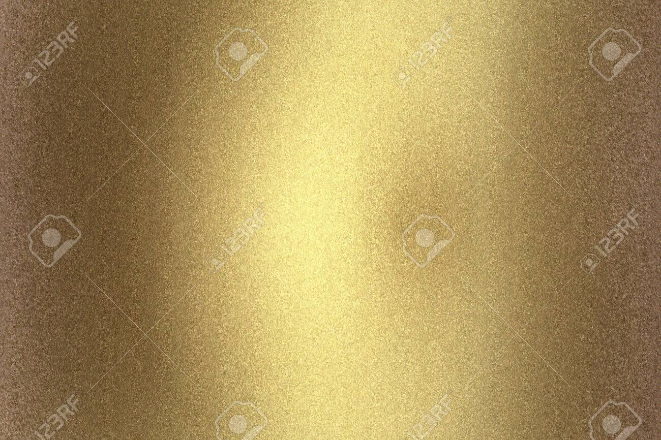 Scratches old golden metal wall, abstract texture background - 122265573