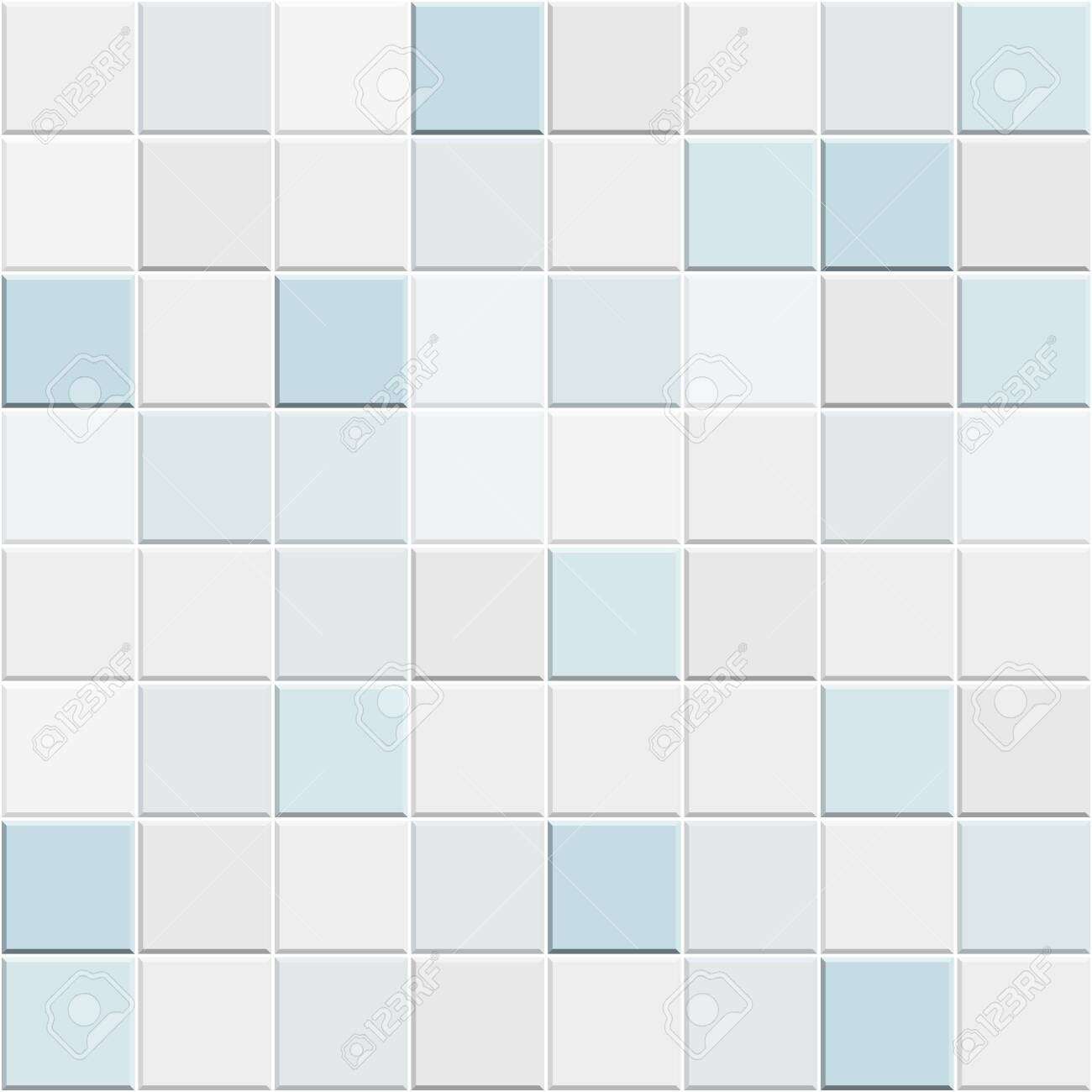 Abstract Seamless Pattern Of White Blue Ceramic Wall And Floor Royalty Free Cliparts Vectors And Stock Illustration Image 128424207