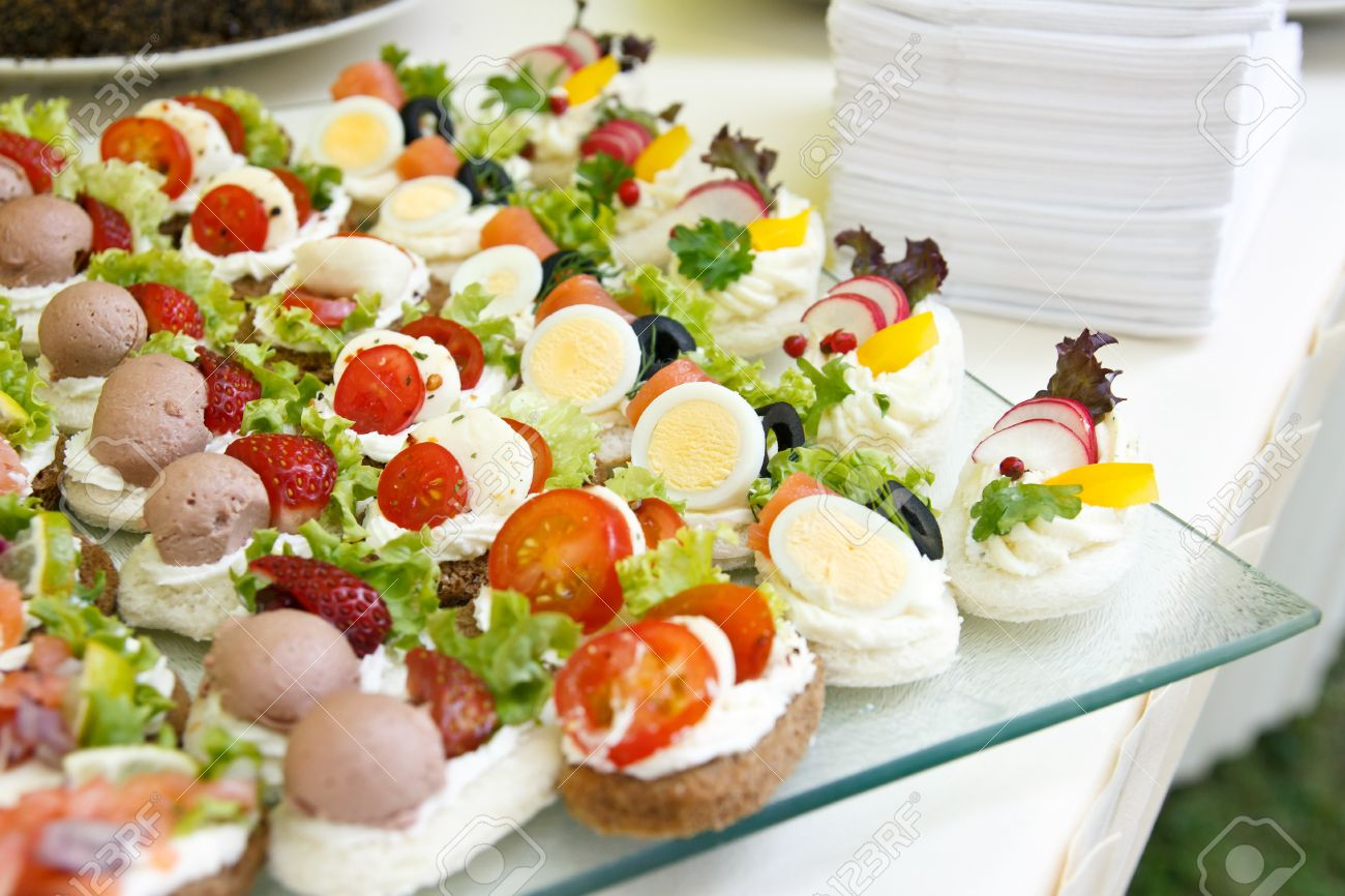 Mixed Mini Canapes On A Plate Stock Photo Picture And Royalty Free - Mini canapé