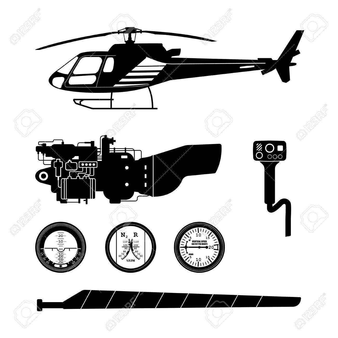 Reparation Et Entretien De L Helicoptere Un Ensemble De Parties De