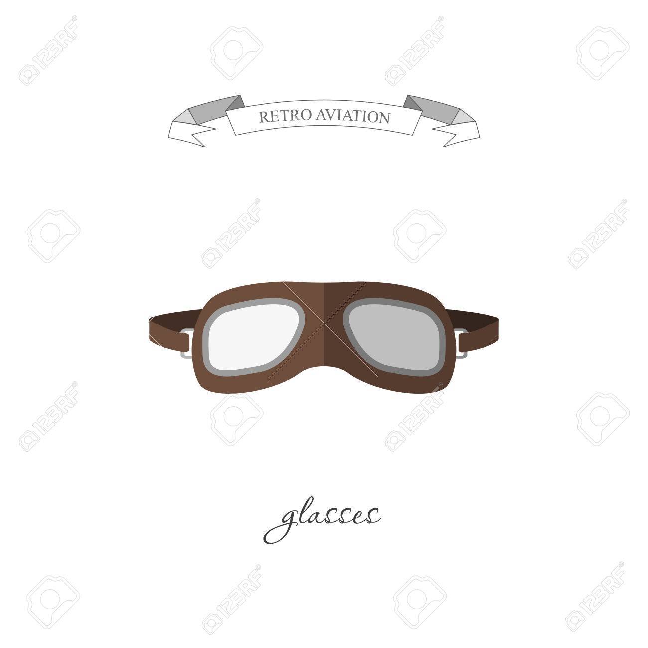 3a39c1bc43 Aircraft glasses in a flat style. Vector illustration Stock Vector -  58338850