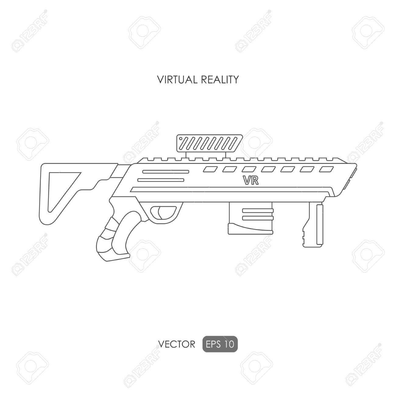 pistola para el sistema de realidad virtual armas de caza dibujo