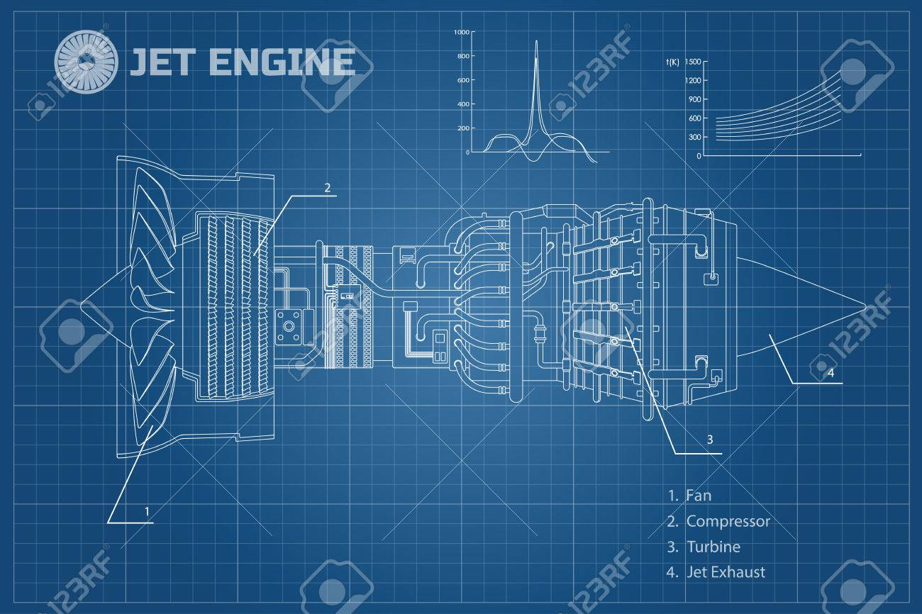 Jet engine in a outline style industrial vector blueprint part jet engine in a outline style industrial vector blueprint part of the aircraft malvernweather Images