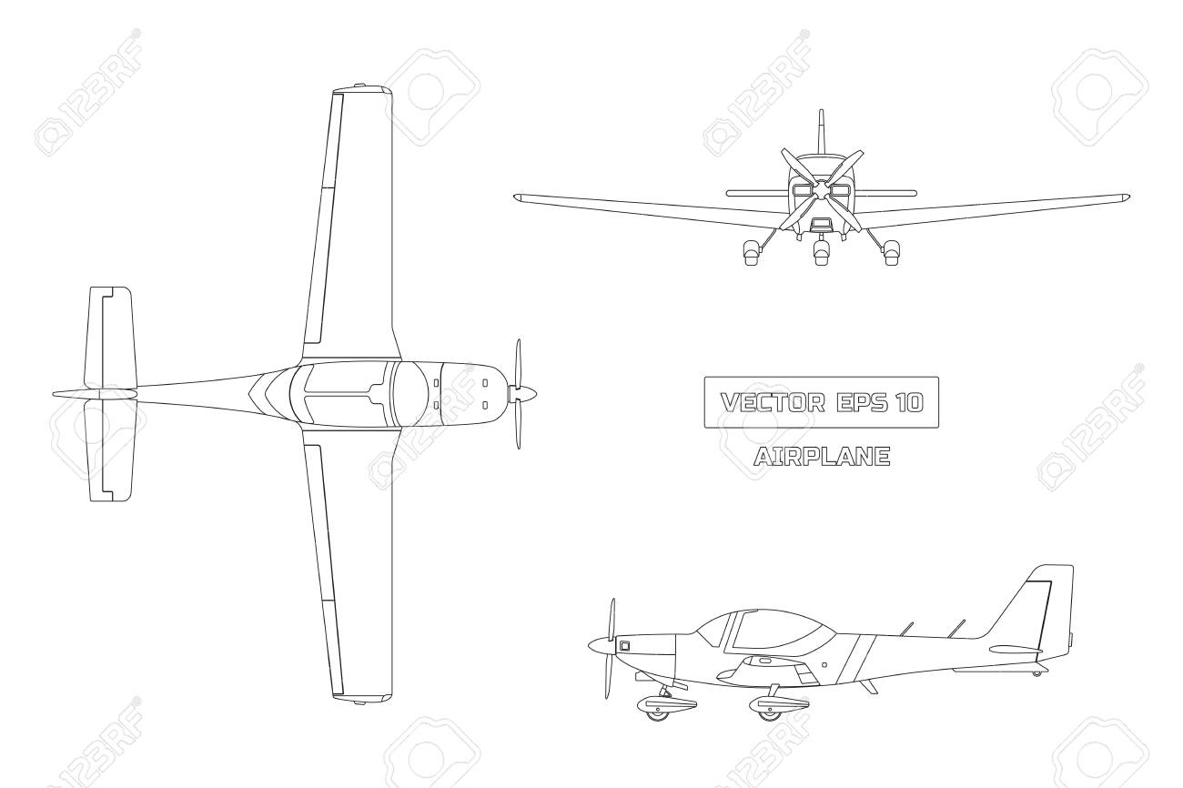 Outline drawing of airplane on white background royalty free outline drawing of airplane on white background stock vector 86379964 malvernweather Choice Image