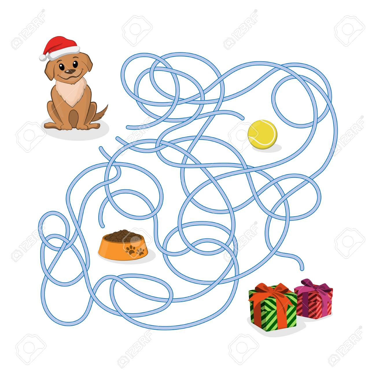 Christmas way game help the puppy pass the maze dog in santa christmas way game help the puppy pass the maze dog in santa hat in biocorpaavc