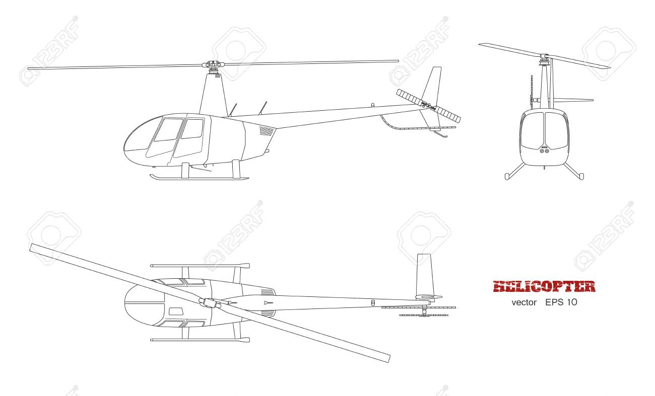 Blueprint of helicopter in top front and side view detailed blueprint of helicopter in top front and side view detailed image of business vehicle malvernweather Gallery