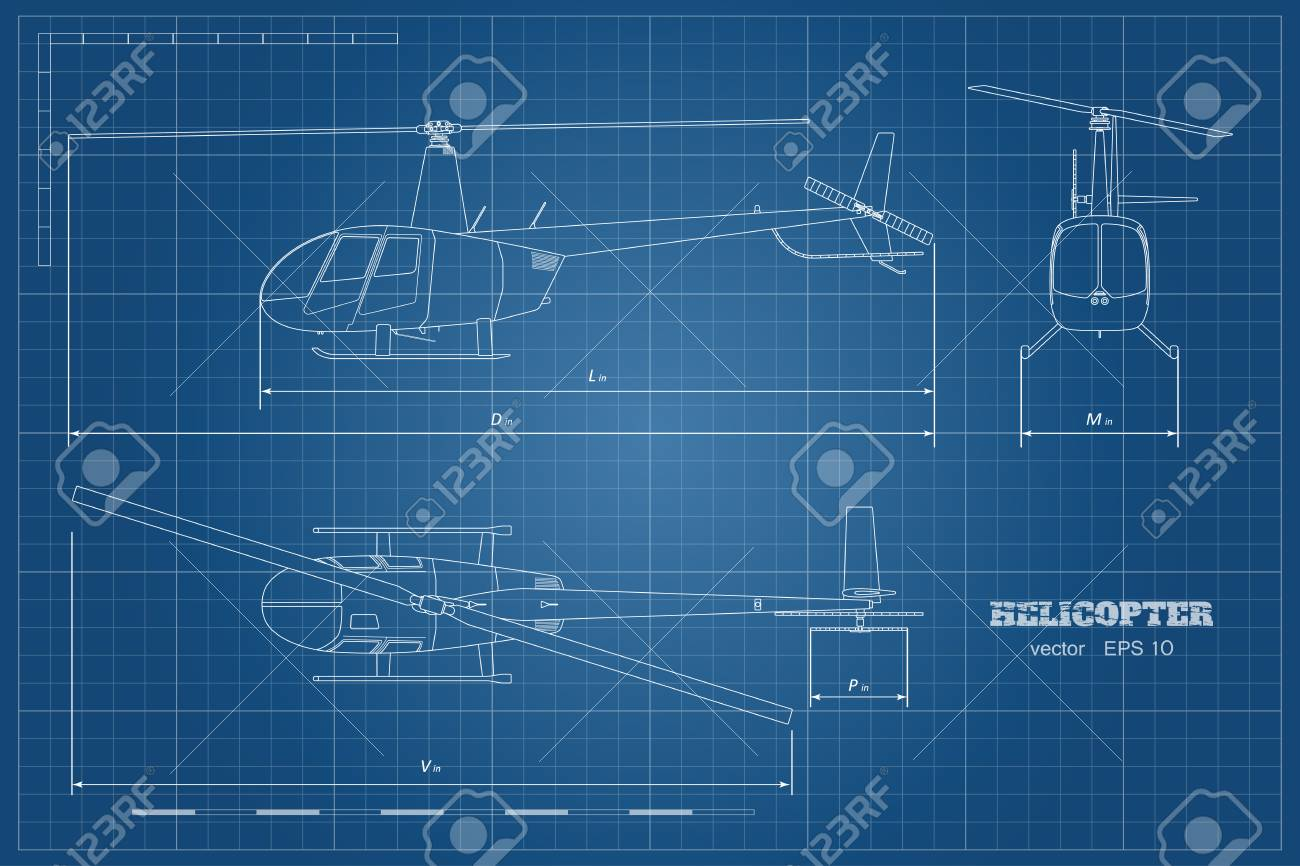 Blueprint of helicopter top front and side view detailed image blueprint of helicopter top front and side view detailed image of business vehicle malvernweather Image collections