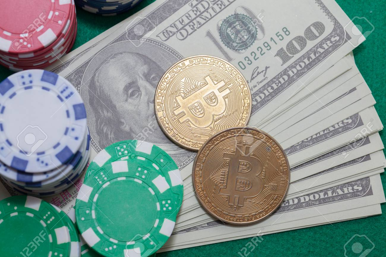 Bitcoin Poker Chips And Money Gambling Concept Stock Photo Picture And Royalty Free Image Image 99061084