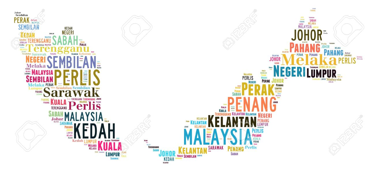 Malaysia Map Infotext And Graphic Arrangement Concept On White