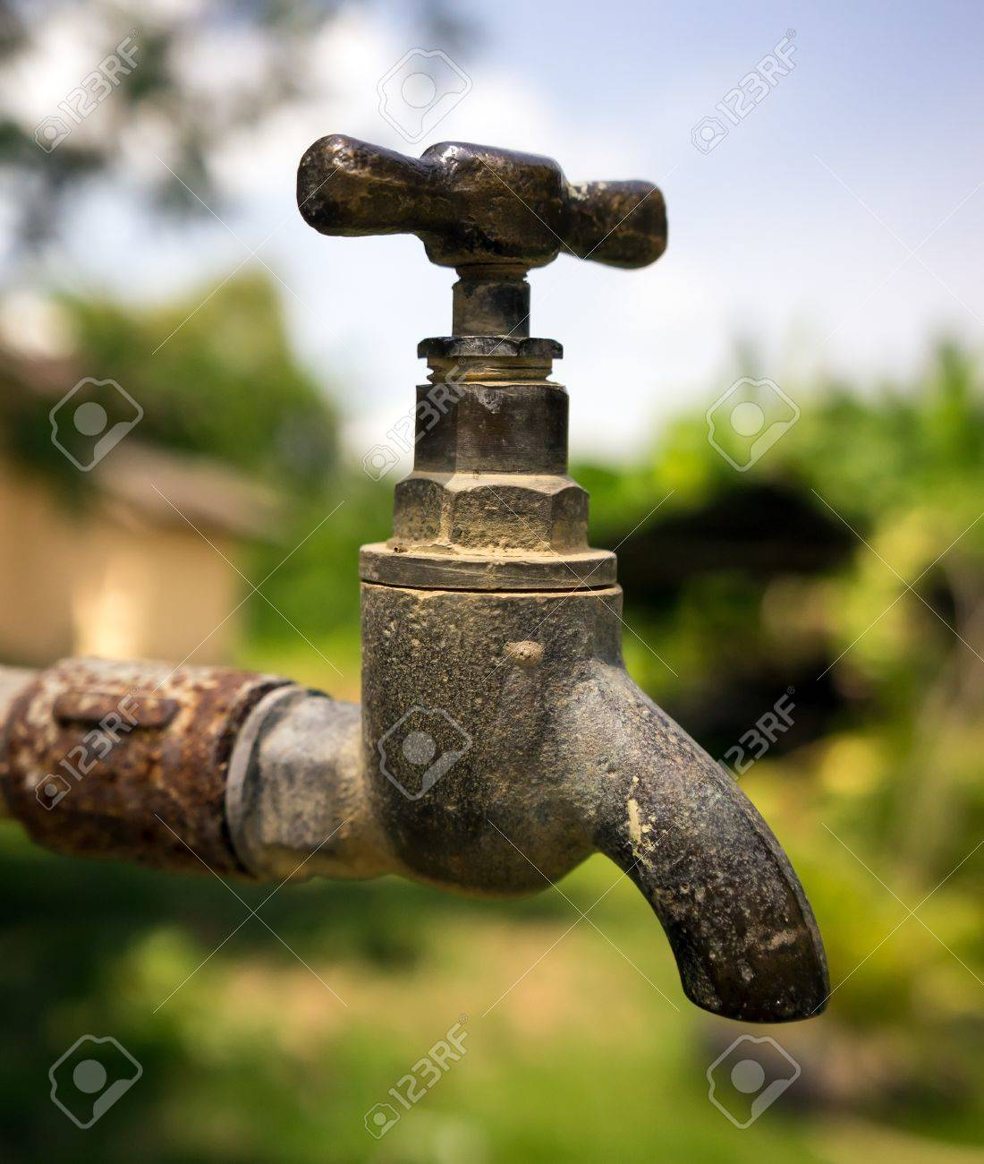 Old Rusty Water Taps Stock Photo, Picture And Royalty Free Image ...
