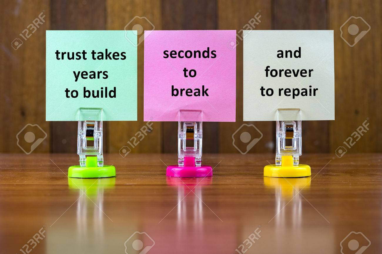 Word Quotes Of Trust Takes Years To Build Seconds To Break And