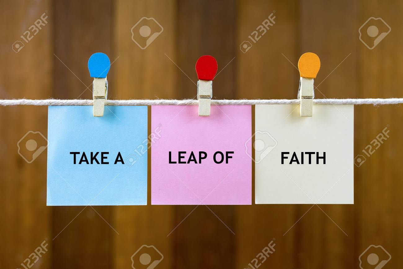 Word Quotes Of Take A Leap Of Faith On Colorful Sticky Papers
