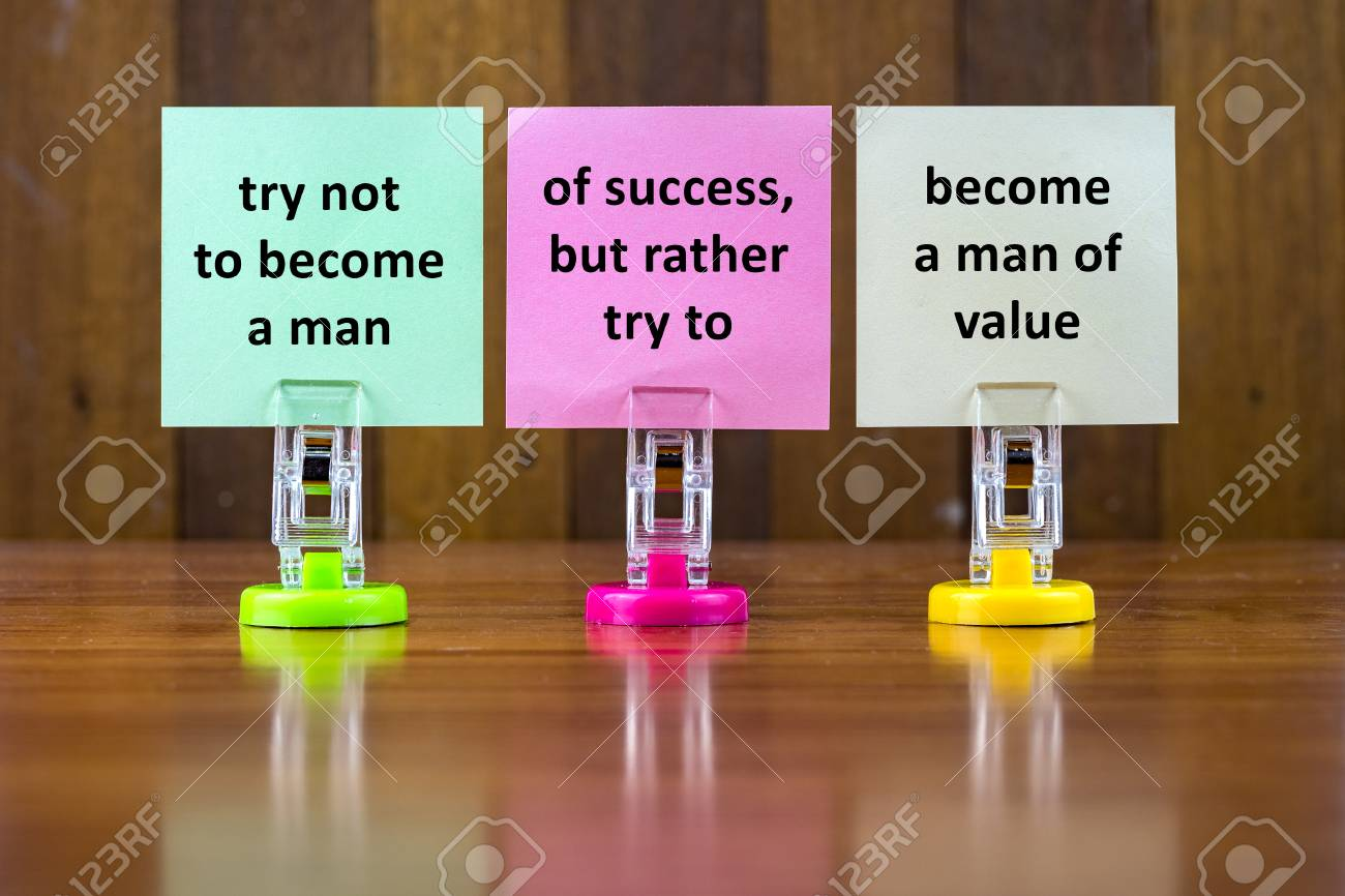 Word Quotes Of Try Not To Become A Man Of Successbut Rather Stock
