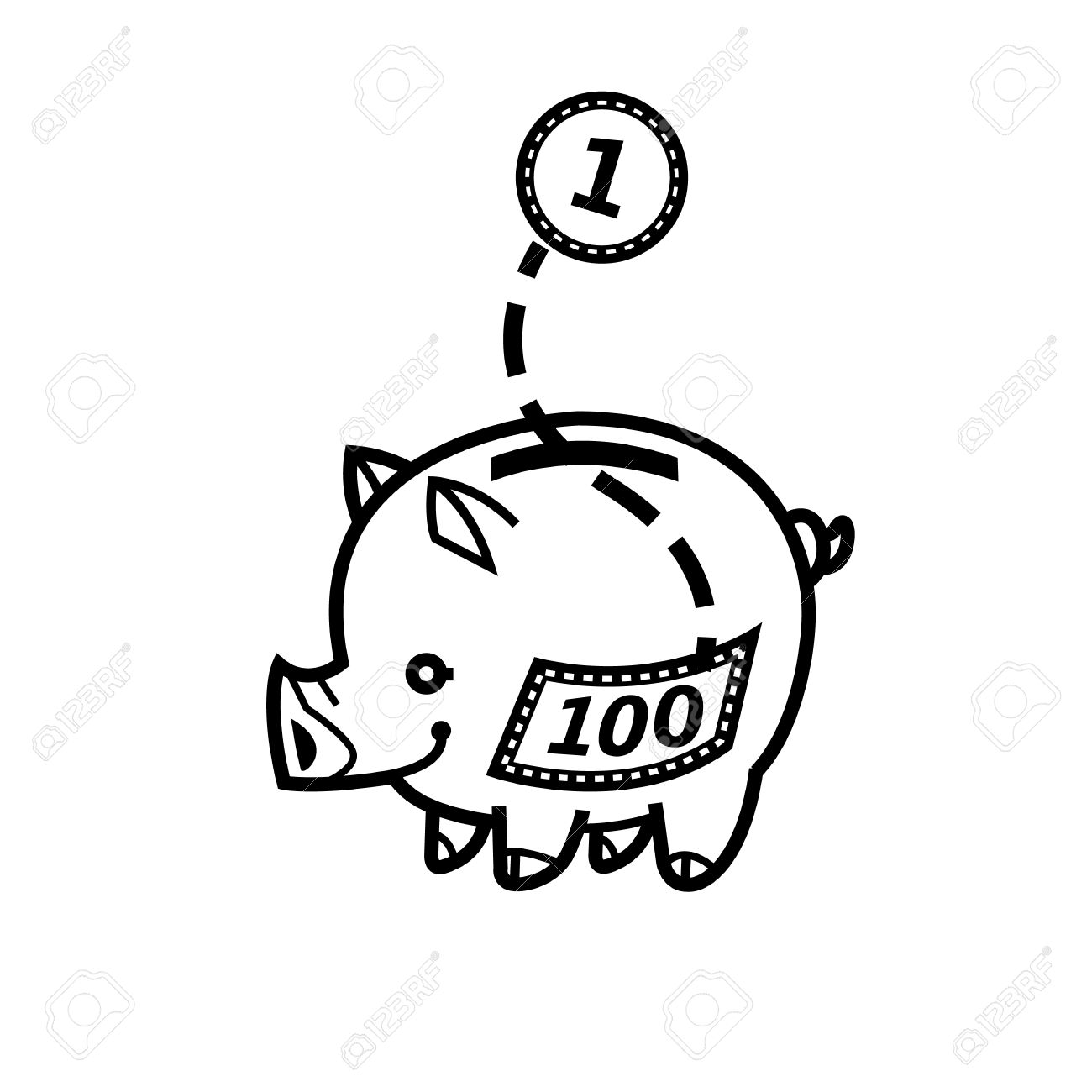 Piggy Bank Symbol Of Wealth Finance And Money Saving And Money