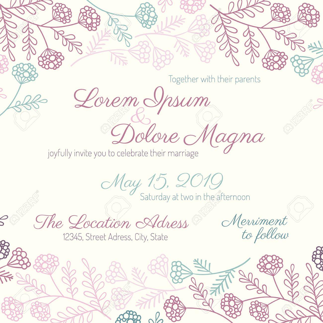 Wunderbar Hochzeits Rsvp Postkarte Vorlage Fotos - Beispiel Business ...
