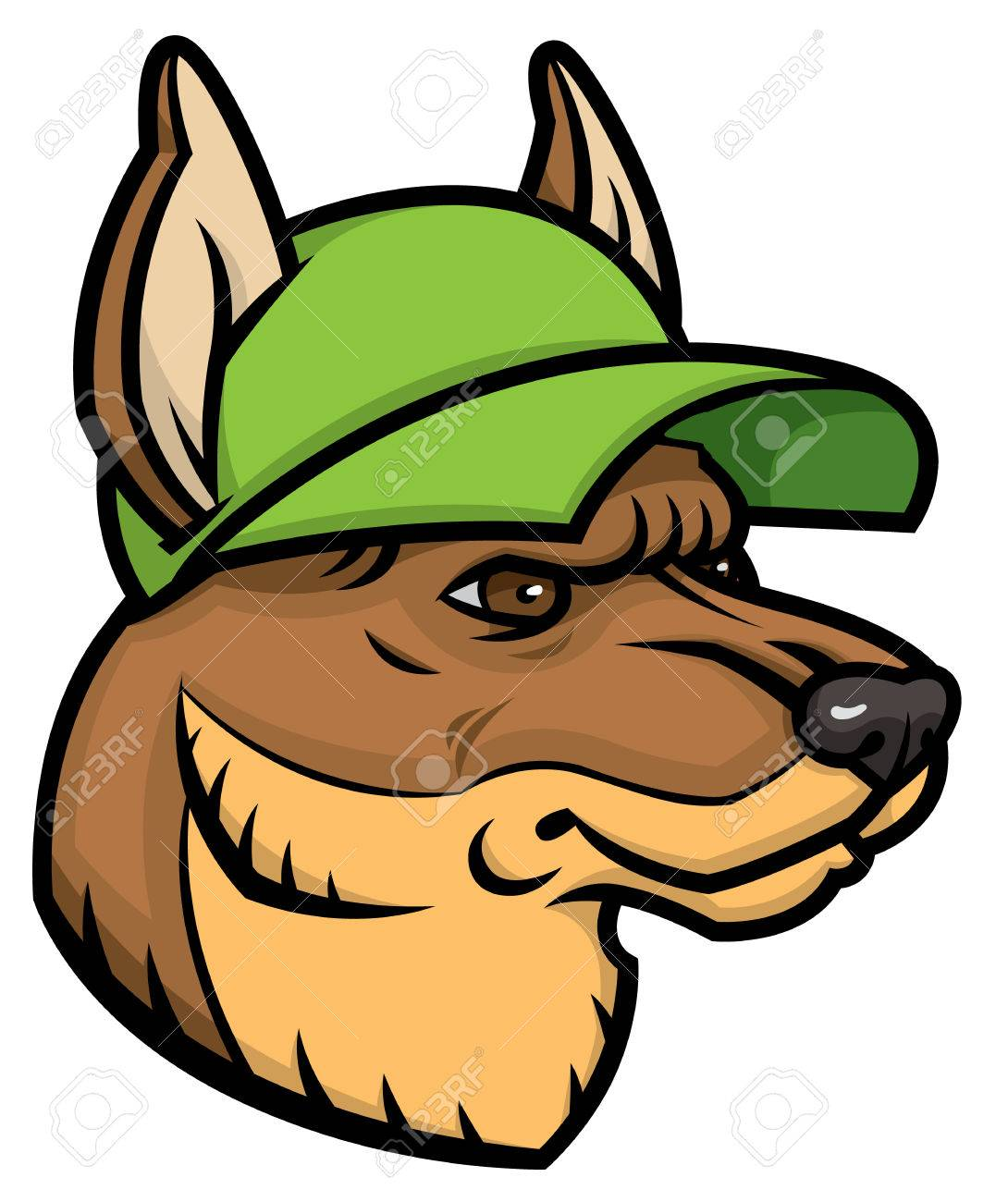 german shepherd head logo mascot emblem royalty free cliparts rh 123rf com german shepherd looks skinny german shepherd looks skinny