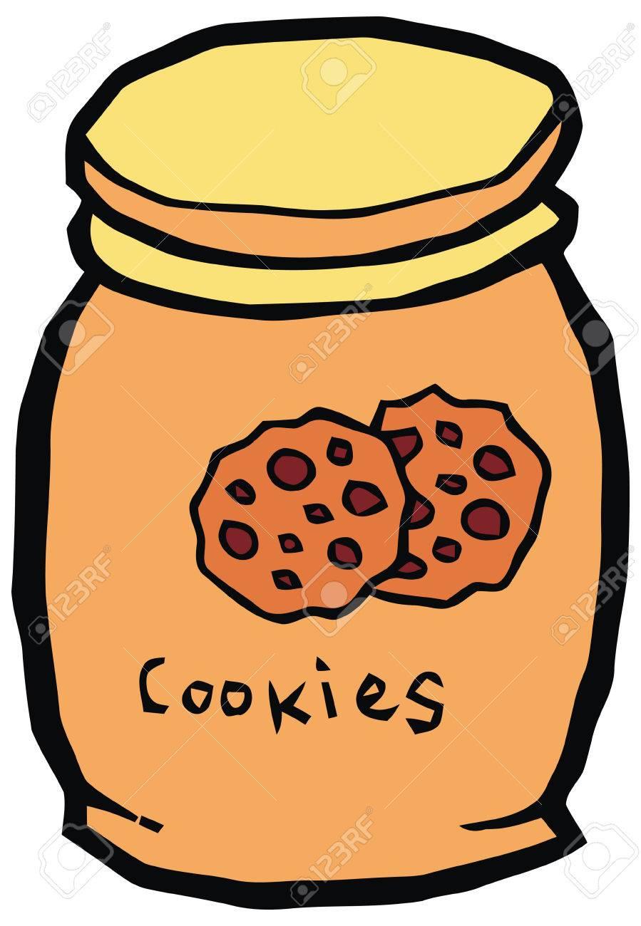 ceramic cookie jar vector illustration set of kitchen items royalty rh 123rf com cookie jar clipart black and white cookie jar clipart black and white