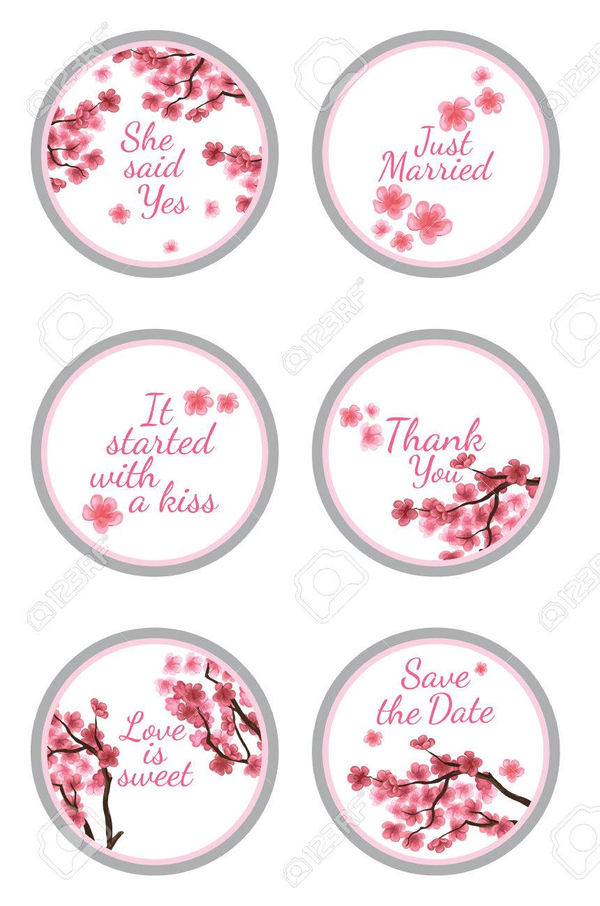Personalized Candy Sticker Labels With Sakura - Perfect Addition ...