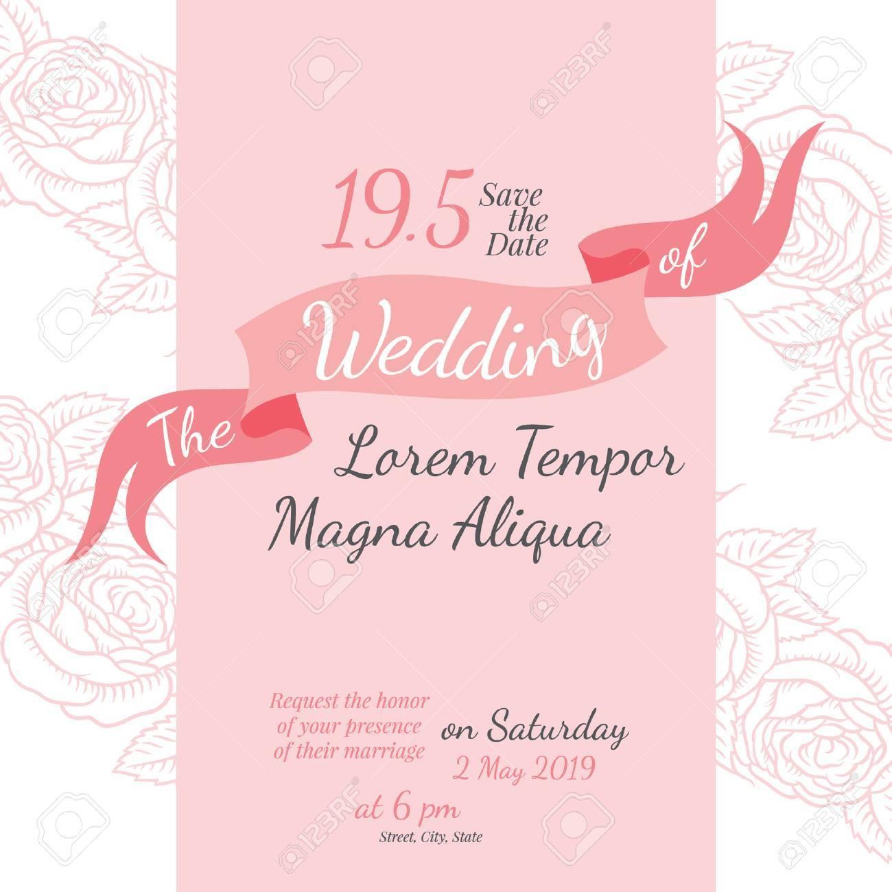 Invitation bridal shower card with rose flower vector template invitation bridal shower card with rose flower vector template for invitations flyers postcards stopboris Images