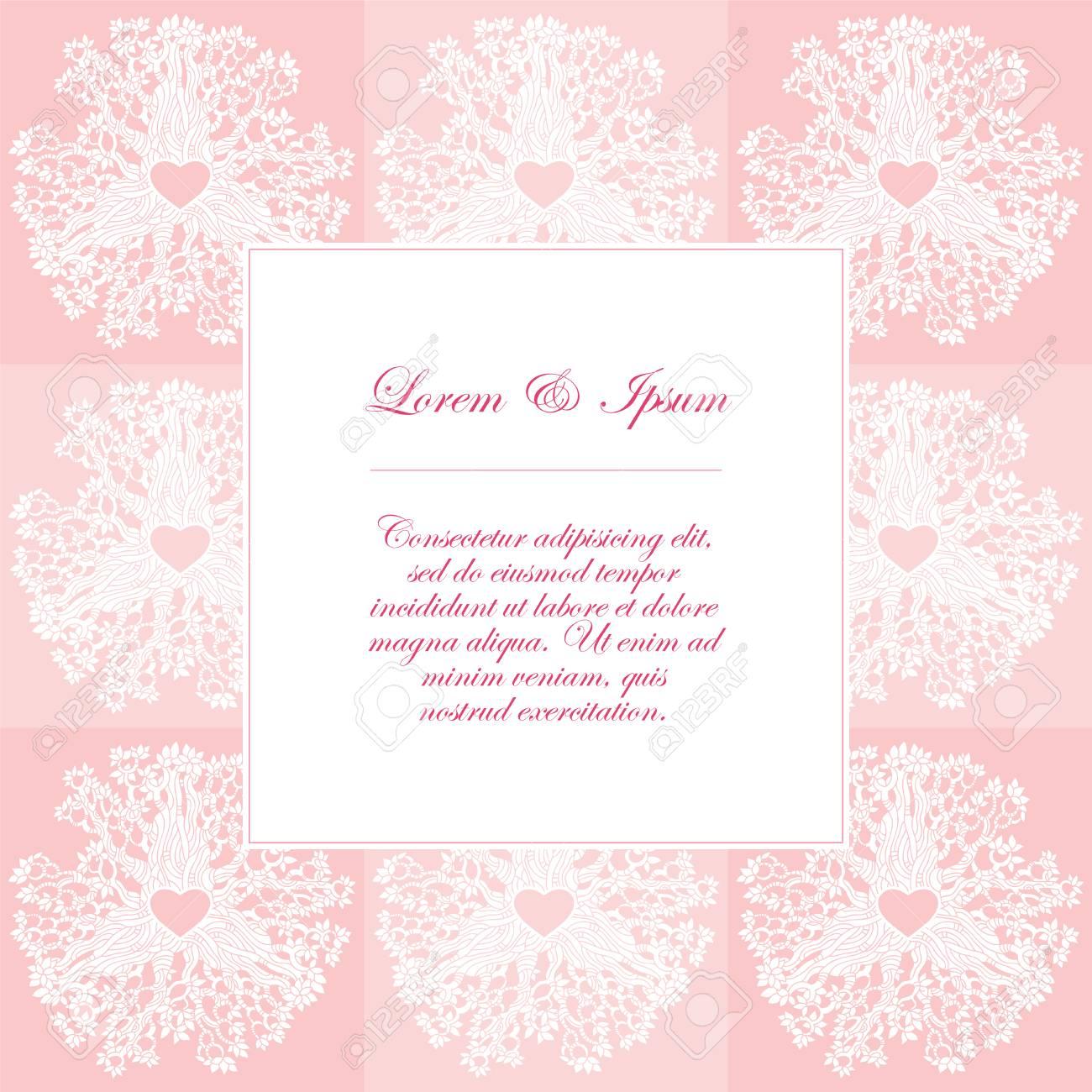 Modelo Del Vector De Las Tarjetas De Invitación De Boda Con Elementos Florales Usted Puede Diseñar Tarjetas De Invitación Cuaderno De La Cubierta De