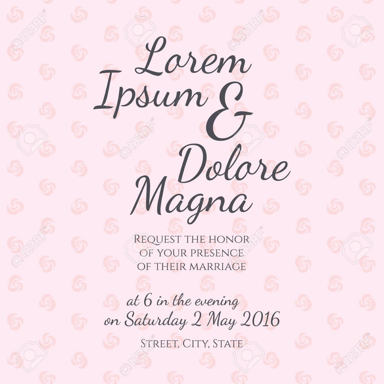 Einladung Hochzeit Karte Vektor Vorlage   Für Einladungen, Flyer, Postkarten,  Karten Und